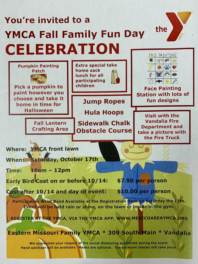 YMCA Fall Family Fun Day, October 17