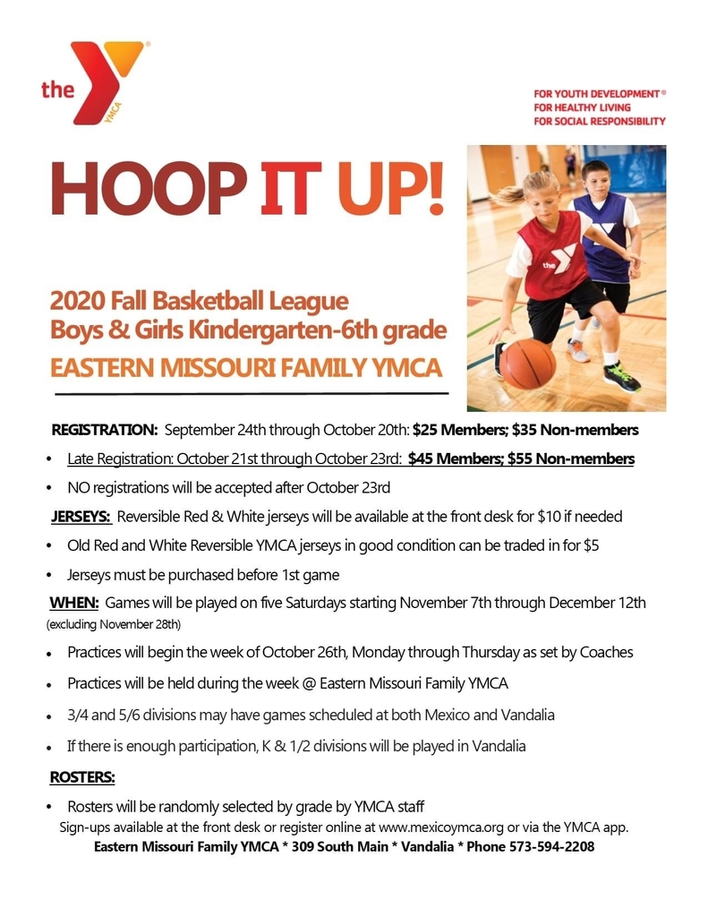 YMCA Fall Basketball League