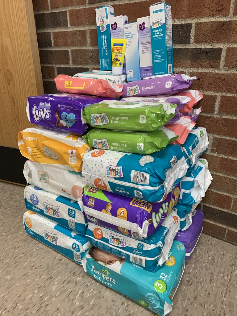 Diapers, baby wipes, and diaper rash cream donated from YMCA.