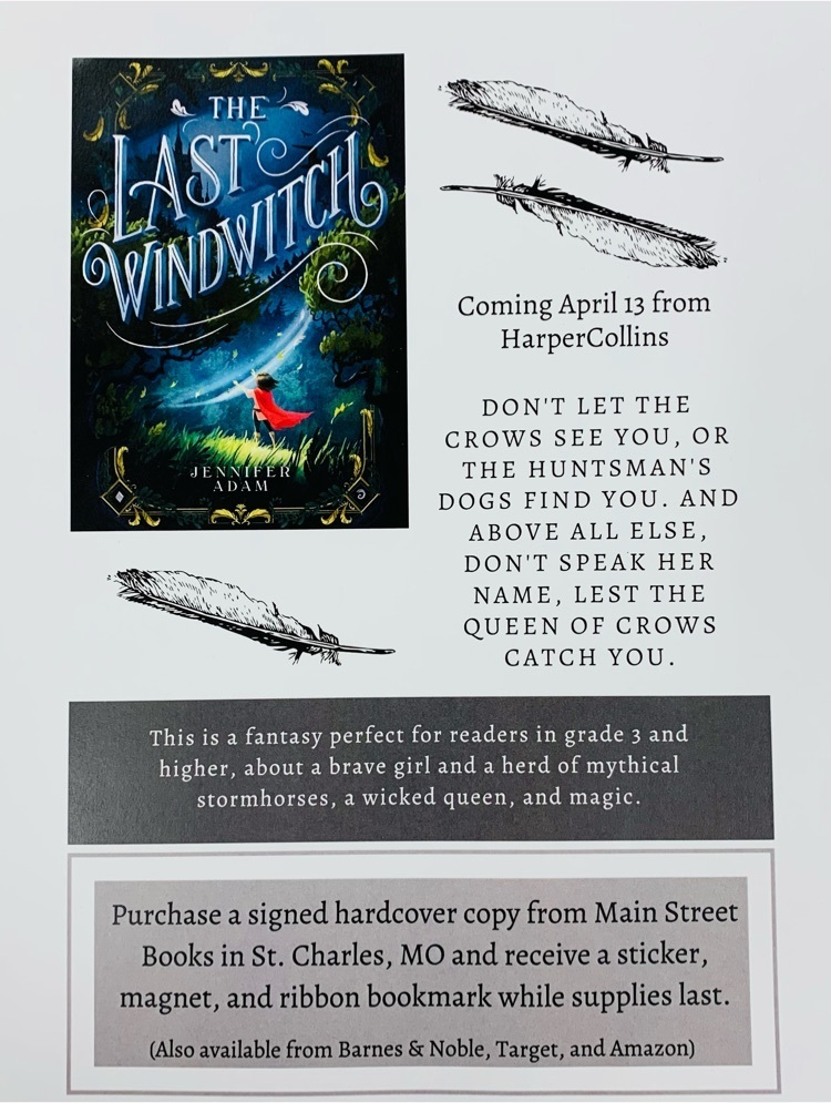 flyer for book purchase