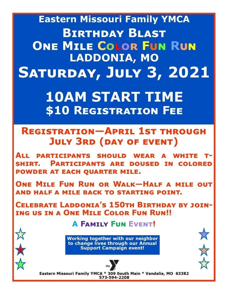 One Mile Color Run Registration