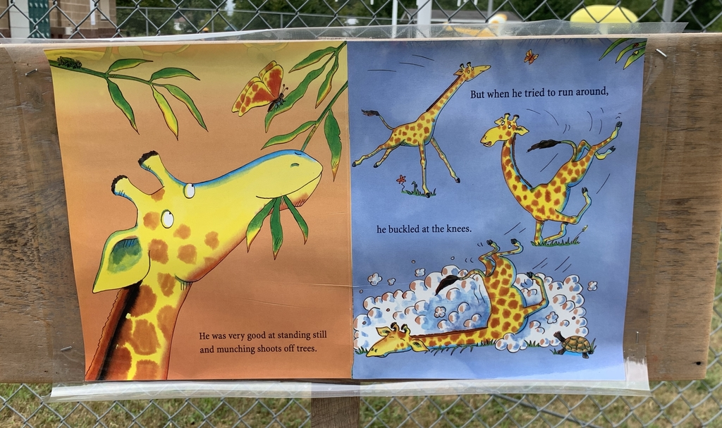 Page from the book Giraffes Can't Dance.